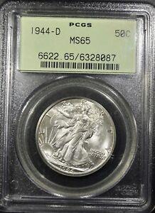 "1944-D Liberty Walking Half Dollar ""PCGS MS65"" *Free S/H After 1st Item*"