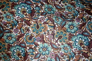 SARAH JOHNSON, BROWN AND BLUE FLOWERS FOR THE SMITHSONIAN BY RJR