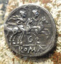 "Roman Republic Silver Denarius, uncertain mint 199-170 BC Sempronia ""GR"""