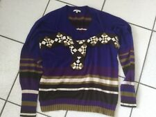 cbac4a76220f Pull Kenzo pure laine violet marron anis taille M état neuf