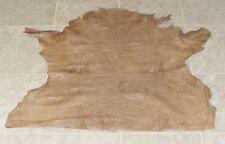 (OIE8674) Hide of Light Brown Printed Lambskin Leather Hide Skin