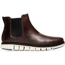 Cole Haan Mens ZEROGRAND Brown Chelsea Boots Shoes 10.5 Medium (D) BHFO 7517