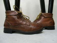 Earth Spirit Oslo Brown Leather Lace Up Cuff Ankle Boots Womens Size 7.5 M