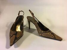 Dolce & Gabbana !!!SALE!!! Bronze Python Kitten heel Slingback 4