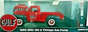 Greenlight Models 1:18 Scale 1950 GMC Die Cast & Gulf Gas Pump - Red
