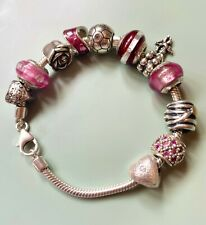Lovelinks sterling silver bracelet and charms beads