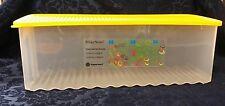 New Tupperware #3995 Large Fridge Smart Sheer Container yellow Lid