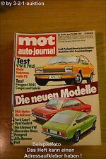 MOT 13/73VW K 70 LS Ford Capri Opel Kadett Peugeot 304