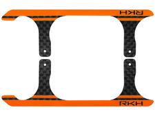 Rakon CNC 3K Pure Carbon Fiber Landing Skid Set (Black-Orange) - Blade 120S