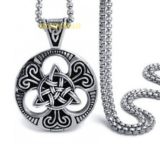 Celtic Knot Magic Pendant Stainless Steel Necklace