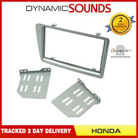 CT23HD30 Silver Double Din Silver Fascia Adaptor For Honda Civic 2001 - 2006