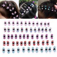 12PCS Baby Girl lady Crystal Flower Mini Hair Claw Clamp Hair Clip Hair Pin J Js