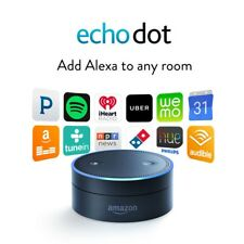 Amazon Echo Dot 2nd Generation Black w Alexa Voice Media Device - Latest Version