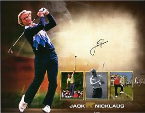 """Jack Nicklaus Autographed 16"""" x 20"""" 18-Time Major Champion Collage Photograph"""