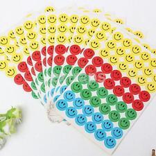 10 Sheets Smile Faces School Teacher Reward Merit Stickers For Children Kid US