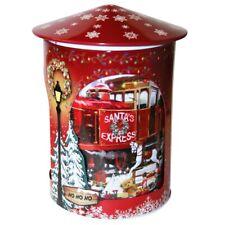 Grandma Wilds Santas Workshop Musical Rotating Tin With Choc Chip Biscuits 200g