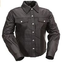 Real Sheep or Cow Black Leather Police Uniform Mens Hot Genuine Shirt BLUF Gay