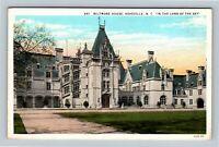 Asheville NC, Biltmore Estate House, Vintage North Carolina c1930 Postcard