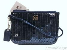 New NWT Coach Special Occasion Sequined Wristlet Midnight Navy Blue 46563