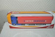 CAMION REMORQUE SCANIA JOAL   TRUCK 1/87  NEUF INTER SERVICE DIE CAST HO TRAIN