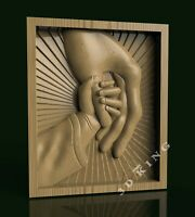 STL 3D Model TWO HANDS TOGETHER for CNC Router Engraver Carving Aspire Artcam