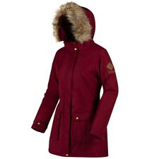 Regatta Womens Schima II Waterproof Insulated Coat 12 Dark Pimento Rwp238 68d12l
