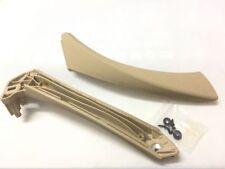 1 set Left side Beige Inner+Outer Door Panel Handle Pull Trim Cover for BMW E90