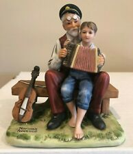 "1980 Norman Rockwell ""The Music Lesson"" Figurine With Original Box And Coa"