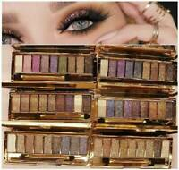 9 Colours Diamond Glitter Eyeshadow Eye Shadow Palette Makeup Cosmetic Brush Set