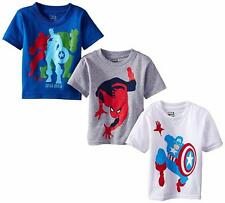 Marvel 3 Pack Tee T-shirt Blue Grey White 2T NWT