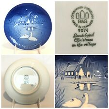 Royal Copenhagen B&G Christmas Collectible Plate 1974 Christmas In The Village.