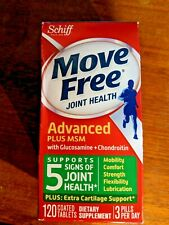 New Move Free Advanced Glucosamine Chondroitin MSM Joint Supplement 120 Exp 6/21