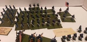 15mm Union Army Soldiers  195 figures American Civil War 70s metal Hand Painted