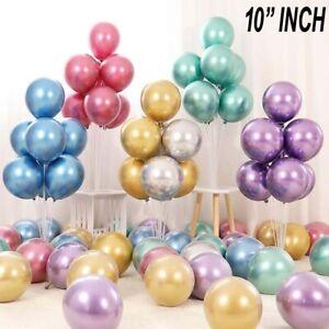 "Chrome Metallic Balloons 10"" 1st Birthday Party Arch Kit Valentine Decor Wedding"