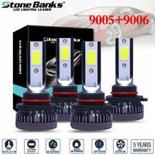 4X Bulbs 9005+9006 240W 5200LM Combo LED Headlight High Low Beam 6000K White Kit