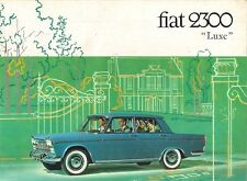 Fiat 2300 Luxe Saloon & Station Wagon 1963-64 French Market Sales Brochure