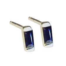Sterling Silver Sapphire Fine Earrings