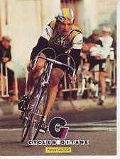 CYCLISME carte cycliste PATRICK GARNIER équipe RENAULT elf GITANE 1982