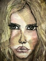 Malerei A3 PAINTING contemporary art fashion illustration aquarell frau erotica