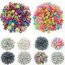 100X DIY Random Alphabet/Letter Acrylic Cube Spacer Loose Beads Jewelry Making