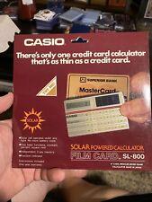 Casio Sl 800 Film Card Pocket Calculator Solar Cell Mint Condition New In Box