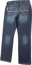 Cinch Men's Grant Relaxed Boot Cut Jean Stitching Mid-Rise Dark Wash MB61737001