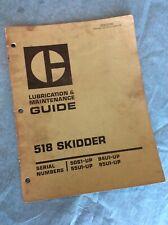 Cat Caterpillar 518 Grapple Skidder Maintenance Lubrication Manual Service Book