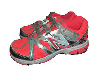 New Balance KV697 Youth Running Shoe Big Kid Sz 2 M / 33.5 EUR Neon Pink New