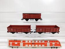 CG5-0,5# 3x Fleischmann H0/DC Güterwagen DB: 884 262/Omm 55 + 65 864/G 10, TOP