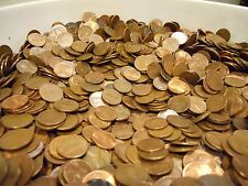 $20 Face Value US Copper Pennies, Machine Sorted 1959-1982 13 LBS, 2,000 Coins