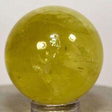32mm Rainbow Citrine Sphere Natural Yellow Quartz Crystal Ball Mineral Stone