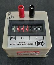 Iet Rs 200 Resistance Substitution Decade Box