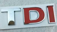 Metal 3D TDI Badge Emblem Decal Sticker Logo for vw Audi Skoda Golf JETTA PASSAT