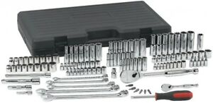 Mechanic Socket Set 118 pc. 1/4 in., 3/8 in., 1/2 in. Metric and SAE Hand Tool